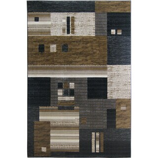 Somette Mystique Harper Black Area Rug (5' x 7'7)