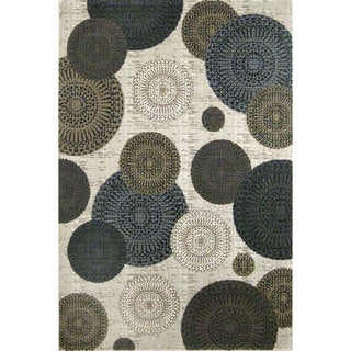 Somette Mystique Chandler Cream Medallions Area Rug (5' x 7'7)