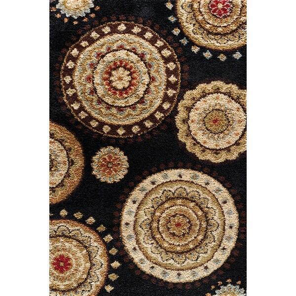 Somette Charlestown Lila Black Area Rug (7'10 x 9'10)