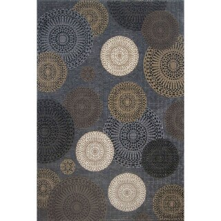 Somette Mystique Chandler Black Area Rug (5' x 7'7)