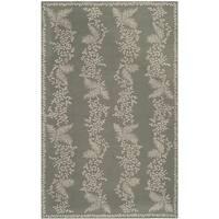 """Martha Stewart by Safavieh Fern Row Tarragon/ Green Wool Rug - 7'9"""" x 9'9"""""""