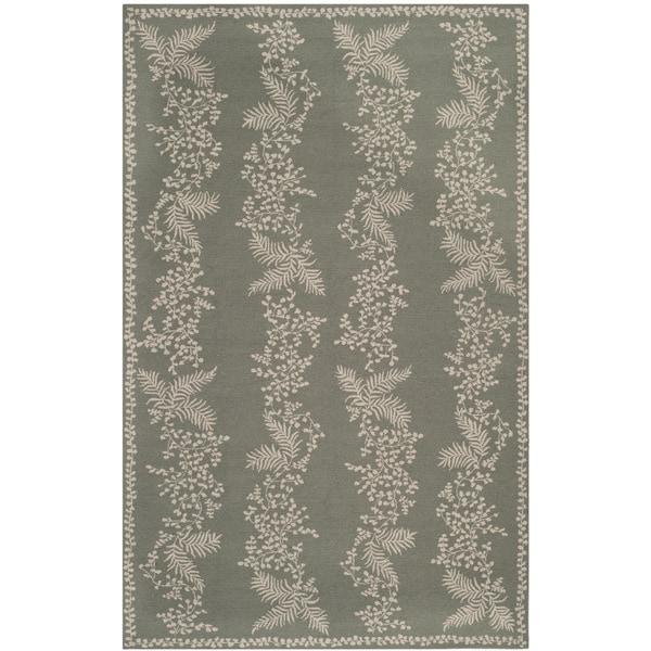 Martha Stewart by Safavieh Fern Row Tarragon/ Green Wool Rug - 8'6 x 11'6