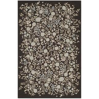 Martha Stewart Watercolor Garden Inkwell Wool Rug (5'6 x 8'6)