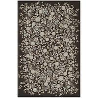 Martha Stewart by Safavieh Watercolor Garden Inkwell Wool Rug - 7'9 x 9'9