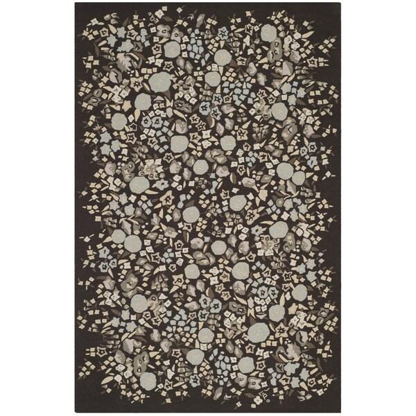 "Martha Stewart by Safavieh Watercolor Garden Inkwell Wool Rug - 7'9"" x 9'9"""