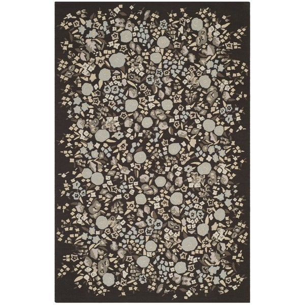 Martha Stewart by Safavieh Watercolor Garden Inkwell Wool Rug - 8'6 x 11'6