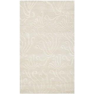 Martha Stewart by Safavieh Seaflora Pearl Silk/ Wool Rug (2'6 x 4'3)
