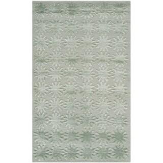 Martha Stewart Constellation Sky Silk/ Wool Rug (2'6 x 4'3)