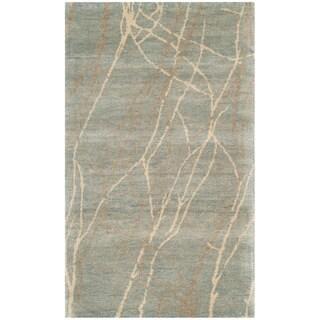Martha Stewart Liana Blue/ Herron Wool Rug (2'6 x 4'3)
