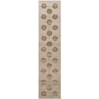 Martha Stewart by Safavieh Medallions Agate Silk/ Wool Rug (2'3 x 10')