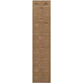 Martha Stewart by Safavieh Medallions Cocoa Silk/ Wool Rug (2'3 x 10')