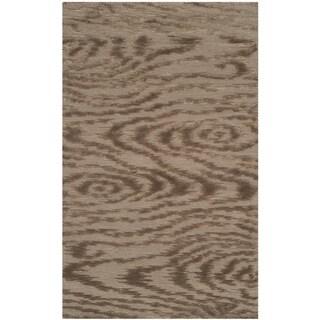 Martha Stewart Faux Bois Truffle Silk/ Wool Rug (2'6 x 4'3)