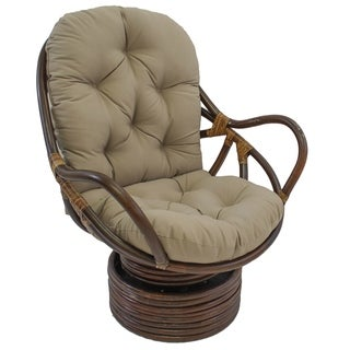Blazing Needles Solid 48-inch Swivel Rocker Cushion