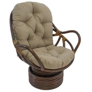 Tufted Twill 48 Inch Swivel Rocker Cushion (Cushion Only)