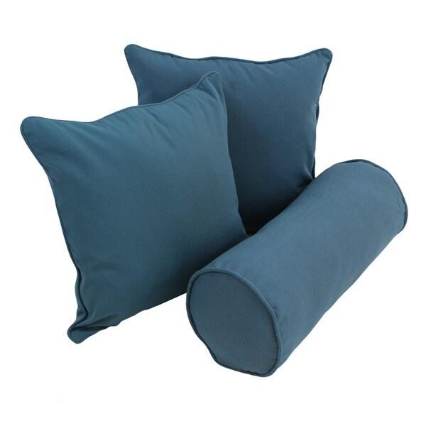 Blazing Needles Twill Decorative Pillows Set Of 3 Free