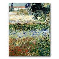 Van Gogh 'Garden in Bloom' Canvas Art