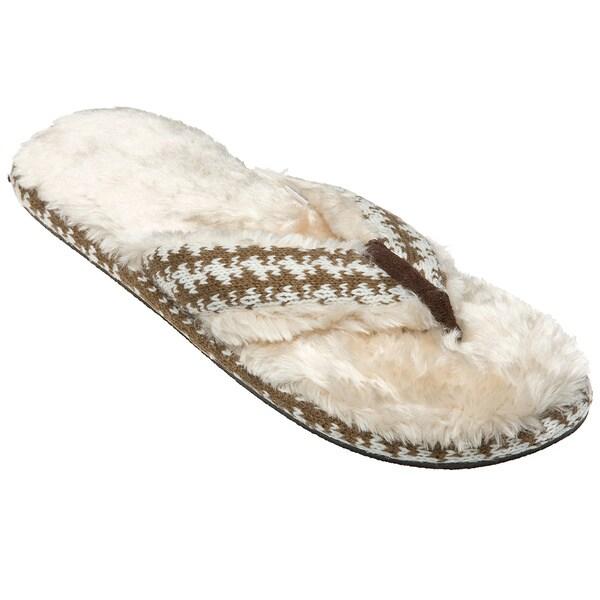 Minx Girls 'Stratus' Cream Faux-Fur Sandals
