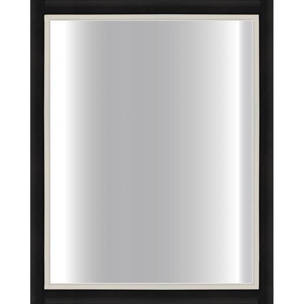 Black Framed Mirror 24 X 30 Silver 24x30