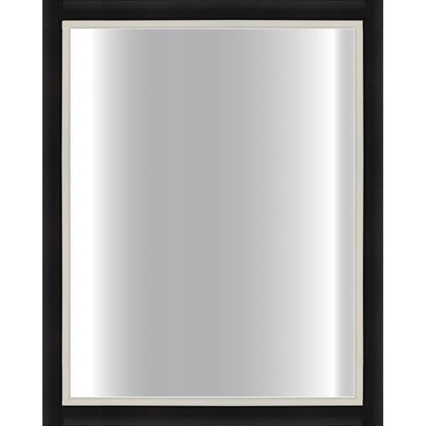 black framed mirror 24 x 30