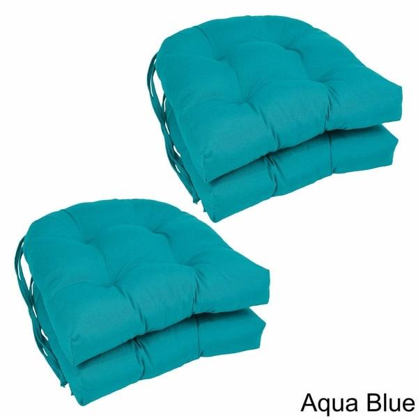 Blazing Needles U-shaped 16-inch Dining Chair Cushions (Set of 4) - 16 X 16