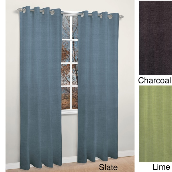 ... Fabrics Thermal Insulated Solid Blackout 84-inch Curtain Panel Pair