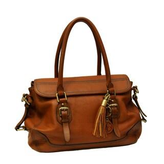 Concealed Carrie Concealed Firearm Satchel Handbag (Option: Brown)