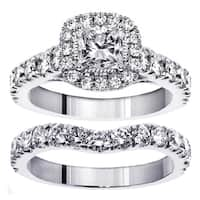 White Gold 3ct TDW Princess Diamond Bridal Ring Set