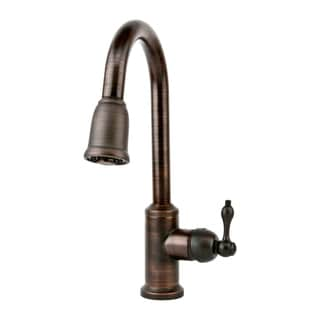 Oil Rubbed Bronze Single Handle Kitchen Faucet with Pullout Spray