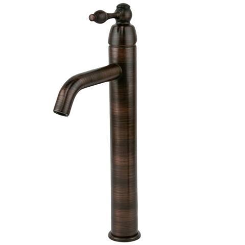 Handmade Rubbed Bronze Single Handle Vessel Bathroom Faucet (Mexico)