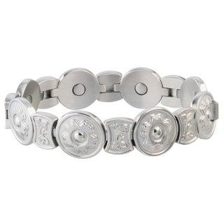 Sabona Round Flower Stainless Steel Magnetic Bracelet