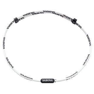 Sabona White Athletic Magnetic Necklace