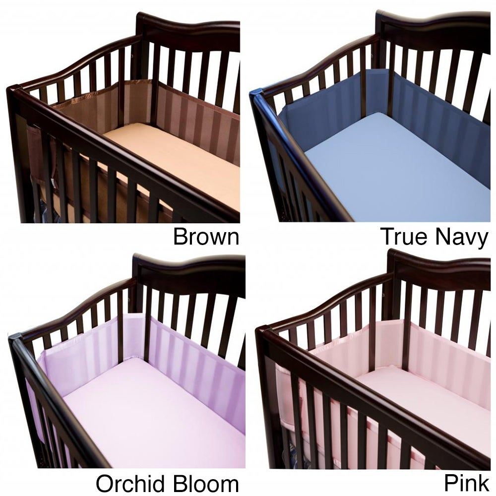 BreathableBaby Breathable Baby Mesh Crib Liner (Pink)