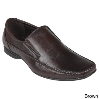 Boston Traveler Men's Leatherette Square Toe Slip-on Loafers
