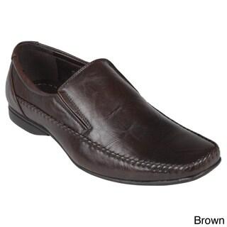 Boston Traveler Men's Leatherette Square Toe Slip-on Loafers