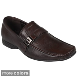 Boston Traveler Men's Square-Toe Slip-On Faux-Leather Loafers