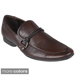 Boston Traveler Men's Almond Toe Slip-on Loafers