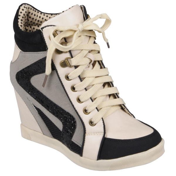 Hailey Jeans Co. Women's 'Jodie-01' Lace-up High Top Wedge