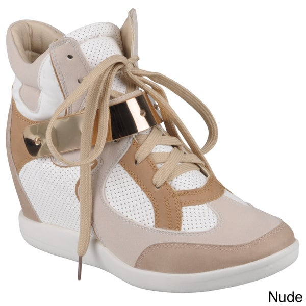Hailey Jeans Co. Women's 'Micha-2' Lace-up Wedge High-top Sneakers