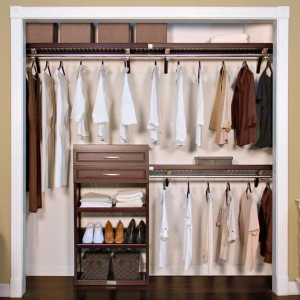 Nice John Louis Home Woodrest 12 Inch Espresso Closet System