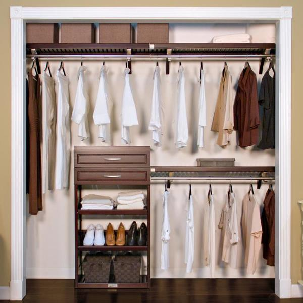 Exceptionnel John Louis Home Woodrest 12 Inch Espresso Closet System