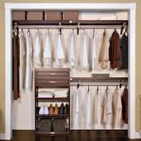 John Louis Home Woodrest 12-inch Espresso Closet System