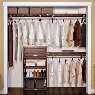 John Louis Home Woodrest 12-inch Espresso Closet System