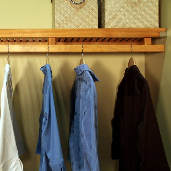 John Louis Home Collection Honey Maple 12 Inch Deep Simplicity Closet  System   Free Shipping Today   Overstock.com   15293215