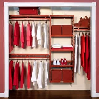 John Louis Home Collection Deep Simplicity Red Mahogany 12-inch Closet System|https://ak1.ostkcdn.com/images/products/7915137/John-Louis-Deep-Simplicity-Red-Mahogany-12-inch-Closet-System-P15293216.jpg?impolicy=medium