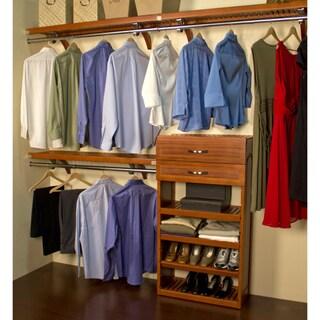 John Louis Caramel Finish 16-inch Deep Woodcrest Closet System