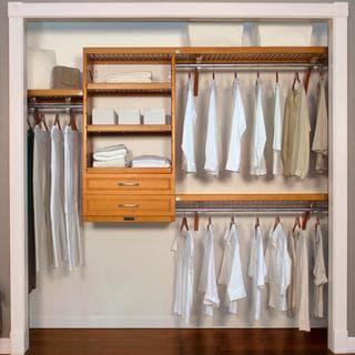 John Louis Home Woodcrest 16-inch Caramel Closet System