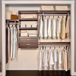 John Louis Espresso 16-Inch Deep Woodcrest Closet System