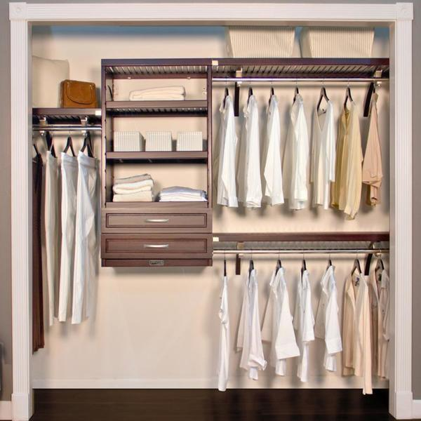 Shop John Louis Espresso 16 Inch Deep Woodcrest Closet
