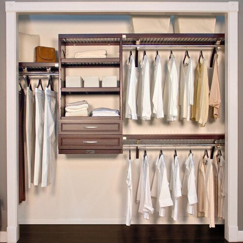 John Louis Home Woodcrest 16-inch Espresso Closet System