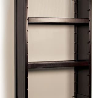 John Louis Woodcrest Espresso Finish Adjustable 12-Inch Shelf Kit (Pack of 2)